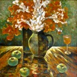 Use backlight to enhance still life paintings