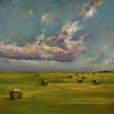 Prairie Sky - Oil on Canvas 10 X 15 Inches - Inspired by Alberta Prairies