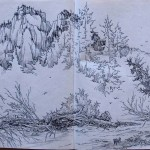 My sketches from Squamish and Maple Ridge, BC