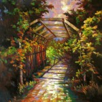 An Arched Path – Original Oil Painting by GQ Zheng