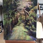 Oil Painting: Devonian Botanic Garden Part I