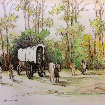 Fort Edmonton Park Horse Wagon